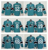 Wholesale Men s San Jose Sharks Joe Pavelski Teal Stanley Cup Playoffs Hockey Jersey Thornton Logan Couture Brent Burns Jerseys