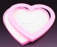 big jewelers - 10pcs big each holes plastic Hearts Trinket Box pink color Jewelers Box