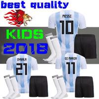 Soccer Boys Short Argentina kids 2018 Soccer Jersey 2018 Argentina kit  Jersey Home DYBALA soccer Shirt � Washington Capitals : cheap nfl jerseys  ...