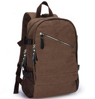 air travel backpacks - Factory direct brand mens bag new simple mens Canvas Backpack college air mass sports travel backpack fashion canvas travel bag