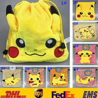 american mini storage - 11 Style Poke Pikachu Coin Purse Plush Mini Wallets Change Bags Children Cartoon Costume Monster Storage Bags XMAS Toys Gifts HH B01