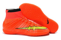 Wholesale 2015 New Elastico Superfly IC Indoor Soccer Shoes High Ankle Superfly TF Turf Football Boots Futsal Soccer