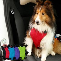 Wholesale Hot Sale Delicate Dog Car Vest Harnesses Cat Pet Dog Vehicle Safety Seat Belt Leash Solid Safety Collar Adjustable JJ0097