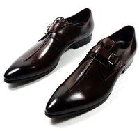 Wholesale Men Dress shoes Oxfords shoes Men s shoes Custom handmade shoes Genuine calf leather wingtip brogue shoes