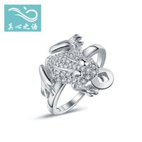 Wholesale The New European and American fashion S925 Sterling silver Ring toad Ring gift christmas party women