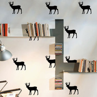 applied packaging - Christmas Deer Wall Sticker Easily Apply Removable Waterproof PVC No Pollution Material For Kids Baby Room Decoration Wall Decor