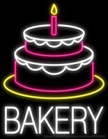 bakery display - Bakery Handcrafted Neon Sign Real Glass Tuble Light Cake Bread Display Sign Store Advertisement Sign quot x24 quot