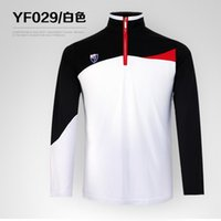 Wholesale PGM golf counter new men s clothing long sleeved T shirt spring and summer men s zipper collar uniforms unique zipper collar fashion spell c