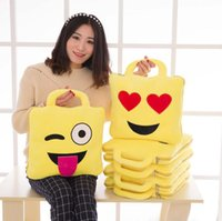 Wholesale New Arrivals Emoji Smile Pillow Blanket Set QQ WeChat Expression in Cute Lovely Air Conditioning Sleeping Bag
