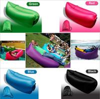 Wholesale 2016 Outdoor Camping Season Fast Inflatable Hangout Banana Sleeping Bag for season style fast air filling sleeping bag