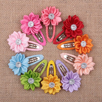 bb band - Newest Children Hair Accessories Flower Solid BB Clip Hair Clip Baby Hair Band Infant Bobby Pin Girl Hairpin headwear