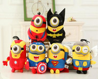 Wholesale 6pcs set The Avengers Movie cute yellow Minions plush Toys cm with tags