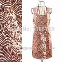 Wholesale Art Deco Great Gatsby s Style Vintage Flapper Scallop Charleston Dress Beaded Mini Dress