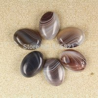 agate cabochons - Pieces x25mm Botswana Agate stone Dome Oval Cabochon Beads Natural stone Flat Back cabochons