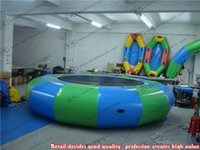 Wholesale Round Inflatable Floating Trampoline Inflatable Water Jump Bed For Adult Or Children