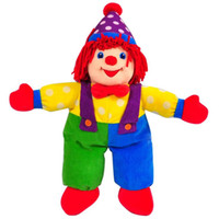 Wholesale Hot and high quality gymboree clown stuffed toys and clown hand puppet for baby soft eco friendly material