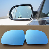 audi mirror glass - Rearview Mirror Blue Glasses LED Turn Signal with Power Heating For Audi A4 A5
