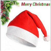 Wholesale Christmas Cosplay Hats Thick Ultra Soft Plush Santa Claus hat cm Cute adults Christmas cap Christmas Supplies Fedex