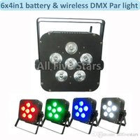 Wholesale 6x8W Par Light LED Wireless in1 Battery led flat par light Wireless DMX LED Stage Battery Powered led flat par light Club Light