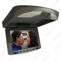 Wholesale 9 quot Flip Down TFT LCD Monitor Car Monitor Roof Mounted Monitor Way Video Input Color For Choice