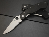 Wholesale Spyderco C36 knife half tooth Tactical hunting Survival EDC Knife shank and black camouflage handle