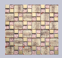 Wholesale Glass mosaic spell mirror glass wall inside the living room special glass wall D