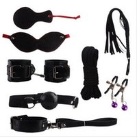 bedroom furnitures - 8 Pieces sex products set Black Leather Bedroom Restraint System Fun Adult games Sex Toys for men and women Sex Furnitures