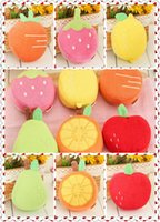 Wholesale Baby Cartoon Fruit Shaped Bath Ball bath sponge New Soft Creative kawaii strawberry kids Bath Brushes washcloths LJJO35