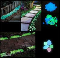 Wholesale Garden Decoration Crafts Glow In The Dark Luminous Pebbles Stones Wedding Romantic Evening Festive Events Supplies