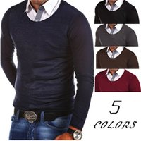 Wholesale Brand Cashmere Soft Autumn Winter Clothing Mens Sweater Fashion Solid Casual Shirt Pullover Men Pull O Neck Shirt L