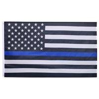 Wholesale 3 x Ft Foot Thin Blue Line US America Flag Sewn Stripes USA Flag
