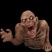 animated haunted house - New Arrival Halloween Supplies KTV Bar Props Animated Cut Off Zombie Ghost Toy Scary Haunted House Decoration SW0234