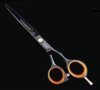 Wholesale Hair Scissors Set Inch Professional Barber Hairdresser Hair Scissors Shears Straight black scissor bag Hairdressing Scissors