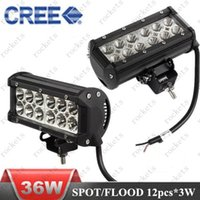 Cheap 36W CREE strip light motorcycle led lamps led car light led work light Free shipping