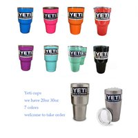 Wholesale Yeti cups oz Silver Pink oz silver yeti cups colored oz Large Capacity beer Mug Bottle Colster Rambler Tumbler Stainless Steel