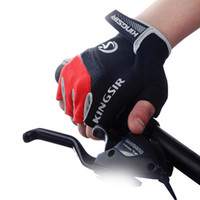 bicycle riding gloves - 1 Pair Outdoor Sport Gloves Summer Cycling Bike Bicycle Riding Gym Fitness Half Finger Gloves Shockproof Mittens