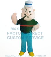 adult popeye costume - hot cartoon character Popeye mascot costume adult size party costumes carnival fancy dress For mascot
