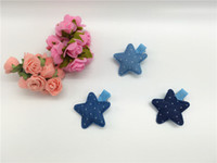 acc chemicals - Colors Fashion Polka dot Denim Stars Babies Hairpin Solid Star Girls Hair Clips Kids Hair Acc
