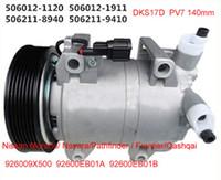 Cheap DKS17D compressor fit Nissan Navara  Pathfinder 2.5 DCI  Frontier Qashqai Cabstar 926004X01B 926004X30A 926009X500 5060121122 926009X50B