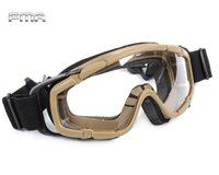 ballistic protective eyewear - FMA Tactical Ballistic Goggle Glasses Airsoft Military of Lens for Helmet Paintball Adjust Safety Eyewear Protective Eyes