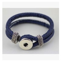 Wholesale DIY noosa buttons Browne rope Bracelet mm European and American fashion hot explosion models in Europe and America B