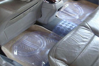 Wholesale Ordinary PVC car mats Transparent plastic mats a pack of sets Non slip foot pad loaded C