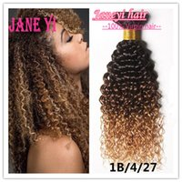 Wholesale 6a Indian Unprocessed Ombre Human Hair Deep Curly Weave Bundles Ombre Indian Human Hair Extensions Water Wave