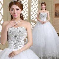ball loose diamonds - 2016 The New Beautiful Princess Lace Neat Bigger Sizes Diamond Belt Loose Skirt Wedding Dress B