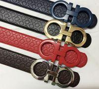 Wholesale 2016 classic luxury fashion ferragi amo belt crime hot designer took me male brand of high quality leather ff Big buckle versae belts