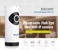 al por mayor cámaras de seguridad tarjeta de infrarrojos sd-Ranura para tarjeta del sistema P2P IR dos vías de audio micro SD Cámara ESCAM Moai QP110 mini WiFi IP HD 720p cámara de seguridad CCTV