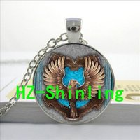 american platinum eagle - 2016 New Silver Ravenclaw Necklace Pendant Brown Eagle Jewelry Glass Photo Cabochon Necklace U