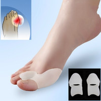 Wholesale 1Pair Silicone Foot Care Gel Bunion Two Toe Straightener Hallux Valgus Separator Alignment Pain Valgus Set Foot Care Tool