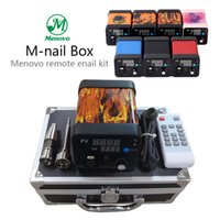 Wholesale Menovo M nail box Kit New style Cool Fire Enail Dnail Electronic Temperature Controller Box For DIY Smoker E Nail Coil With titanium nail