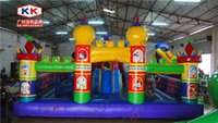big playground slides - artwork Mickey Party Park Learning Club inflatable fun city for kids big inflatable cartoon playground